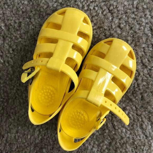 Dolce Gabbana Kids Yellow Sandals